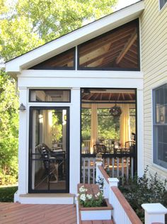 Back Porch Designs, Screened Porch Designs, Screened Porches, Porch Roof, Back Porches, Porch Ceiling, Home Depot, Front Porch Seating, Summer Front Porches
