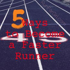 5 Ways to Become a Faster Runner and improve your racing times. There are a few significant factors that I believe have helped to make me a faster, smarter and better runner, RunFarGirl Sarah says. @runfargirl