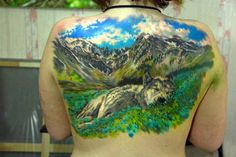 Dramatic Landscape Tattoo