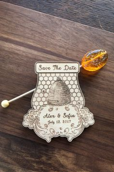 Honey Save The Date Magnet, Soon to Bee Bridal Magnets, Personalized Wood Magnets, Rustic Designer Beekeeper Wedding Invite, Magnets Set 10 Wedding Invitation Kits, Destination Wedding Invitations, Save The Date Invitations, Wedding Guest Book, Our Wedding, Cruise Wedding, Honey Colour, Bee Theme, Save The Date Magnets