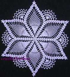 Pineapple Snowflake Doily