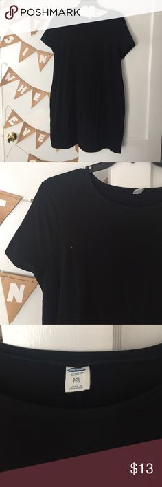 Fitted black stretch dress Easy to dress up or down! Shows off your figure and stretches well. Short sleeves, hits above the knee. Worn once Old Navy Dresses Mini