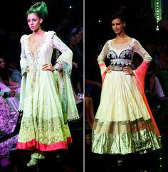Lakme Grand Finale by Manish Malhotra was a collection of international standard inspired by the looks of Lakme ABSOLUTE cosmetic range, which combined hi-tech and hi-fashion in the most sensational manner that dazzled the audience. The most magnificent Indian and Western creations comprising swirling panelled lehengas, amazingly constructed cholis, superb saris and serene avant garde gowns.