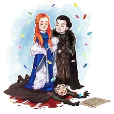 art by yukihyo 🔸 this would be MY DREAM??? i really hope sansa burn everyone's face who thinks she will betray jon,he is the only family she have right now. and the person who fought because of her ▫and for her▫. remember what she said to jon ~only a fool would trust littlefinger~ Game Of Thrones