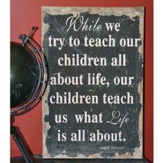 Rodworks - Teach Our Children Burlap Print - Rodworks