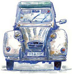 Old auto illustration