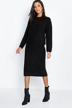 e5c38ebcad9a Two Piece Knitted Set Boohoo, Knitwear, Two Pieces, Knits