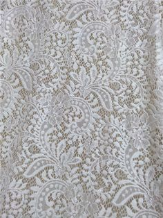 Wedding Lace fabric, Stretch lace, Floral lace, Fabric lace, White stretch lace fabric by the yard wholesale lace fabric DCF52610  Width: about 1.5M stretch lace fabric colour: off white edges: straight edges  This white lace is very soft and high stretch, it can be used for dress overlay, wedding dress, lace table runner, lace curtain, etc. More yards are available. Large quantity please contact me for quotation. Free swatch samples are available, after ordering you can choose any item…