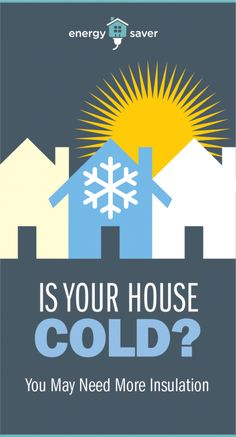 Is Your House Cold? You May Need More Insulation. Find the right type of insulation and how much insulation you need in your house. Types Of Insulation, Thermal Insulation, Energy Saver, Heating And Cooling, Building Materials, Homemaking, Save Energy, Helpful Hints, Home Improvement