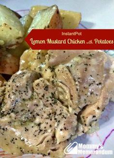 Instant Pot lemon mustard chicken with potatoes.