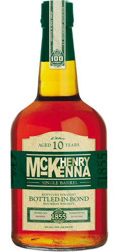 """Henry McKenna Single Barrel 10 Year Old Kentucky Straight Bourbon   Aged for a minimum of ten years, this bourbon was called """"magnificent""""..."""