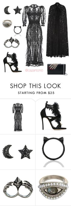 """Halloween Night"" by cazantonio on Polyvore featuring Dolce&Gabbana, Dsquared2, Kate Spade, KD2024, Alexander McQueen, Halloween, dolceandgabbana, McQueen and dsquared2"