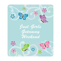 Personalized All Aflutter Aqua Butterfly Favor Stickers - OrientalTrading.com