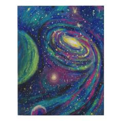 Outer space For Her For Him Galaxy Stars Faux Canvas Print - gift for her idea diy special unique Alien Painting, Galaxy Painting Acrylic, Planet Painting, Space Drawings, Space Artwork, Space Painting, Systems Art, Oil Pastel Art, Galaxy Art
