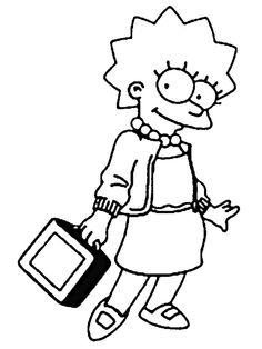 Coloriage Dessins. Dessins à imprimer et la couleur en ligne. Les Simpsons 15