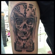 BLACK AND GREY TATTOO... SKULL TATTOO