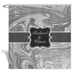 Personalised family name on luxurious marbling Sho