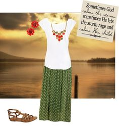 """A Summer Day"" by baptistgal ❤ liked on Polyvore"