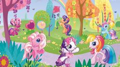 pony ponyville g3 wallpapers background mlp bedroom m9 htc fanpop backgrounds wall itl cartoons club resolution mural discover resolutions bar