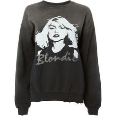 Madeworn Blondie Glitter Sweatshirt (3.376.250 IDR) ❤ liked on Polyvore featuring tops, hoodies, sweatshirts, black, drop shoulder sweatshirt, destroyed sweatshirt, long sleeve tops, drop-shoulder tops and glitter long sleeve top #BlackGlitter