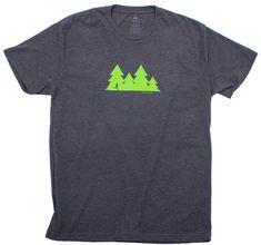 69136169 Happy Hour Trail Run - Green Trees on Gray - Men's Short Sleeve Running T- shirt - CG11OVB80FN - Sports & Fitness Clothing, Men, Shirts #Shirts  #Sports ...