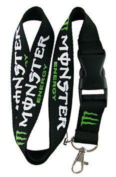 Monster Energy Lanyard Keychain Holder $3.07. I want this :///