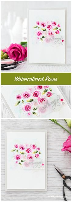 Lime Doodle Desine; SSS Roses for you; watercolor; love FAVE; wedding FAVE; anniversary FAVE; white and pink; vellum; stunning; Valentine Fave