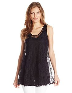 Only Hearts Womens Summer Song Tunic Mini W Liner Black Small -- Click on the image for additional details.