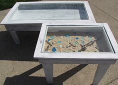Shadowbox coffee table and matching end table