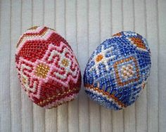 These beaded Ukrainian Easter Eggs made by Natalia Martiuk. She is an artist from Ternopil city (Western Ukraine) More about Ukrainian culture and traditions Egg Crafts, Easter Crafts, Egg Shell Art, Cultural Crafts, Ukrainian Easter Eggs, Bead Crochet Rope, Beaded Cross, Egg Art, Beaded Ornaments