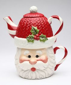 Look at this Santa Tea-for-One Teapot