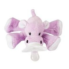 Nookums Paci-Plushies Pink Giraffe Buddies Baby Gift Pacifier Holder Plush Toy Includes Detachable Pacifier, Use with Multiple Brand Name Pacifiers