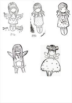 Gorjuss Santoro Stamps clipart and coloring pages Colouring Pages, Adult Coloring Pages, Coloring Books, Disney Drawings, Cute Drawings, Doodle People, Magnolia Stamps, Copics, Mail Art