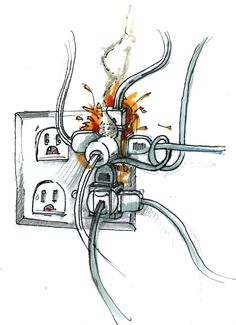 March Fire Safety Tips: Electrical Home Fire Safety  #firesafety