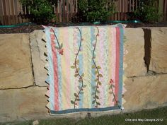 Summer Berries Flannel Lap Quilt.  Pattern $15.95
