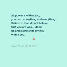 #power Swami Vivekananda Quote