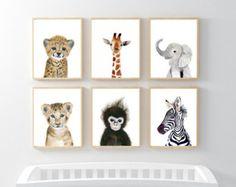 Impresiones de Safari infantiles imprimir por Marysflowergarden