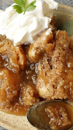 Snickerdoodle Cobbler ~ rich and buttery with a self-made sauce and warm cinnamon flavor!!