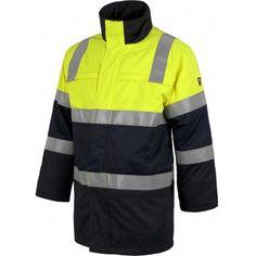 Parka combinada con alta visibilidad, Referencia  B3791 Marca:  WorkTeam  Parka combinada con alta visibilidad, ignífuga, tejido modacrílico, algodón y antiestático. EN ISO 11611, EN ISO 11612, EN1149, EN61482, EN ISO 20471.