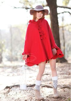 Kawaii Clothing | Abrigo Caperucita / Red Riding Hood Coat 2WH033 | Online Store Powered by Storenvy