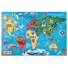 Tag mapamundi interactivo world map spanish a world of learning world map floor 33 piece puzzle melissa gumiabroncs Image collections