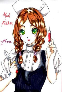 Oh Maria, you're so bad ass. Maker Game, Rpg Maker, Mad Father, Scary Games, Rpg Horror Games, Witch House, The Villain, Game Art, Manga