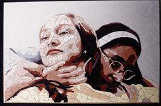 Artist: Sérgio Honorato  Title: Pensar e contentamento  Location: Rio de Janeiro, Brazil  Media: Acrylic paint and ceramic tile  Dimensions: 50 x 70 cm