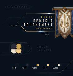 League of Legends Clash Tournaments Branding on Behance