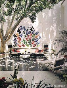 Arquitectura de Casas: Murales artísticos para el patio o jardín.