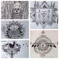 indie doodles drawings designs