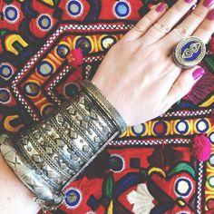 Verkauf Shanee Vintage Silber Stammes-Manschette