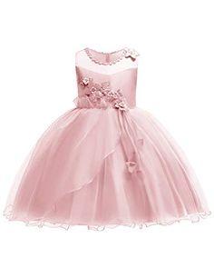 898ee98fa2a JOYMOM Pink Dresses for Girls Teens Elegant Flowy Tulle Dress Juniors Summer  Cocktail Party Tank Dresses