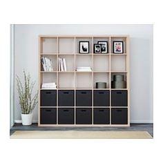 IKEA - KALLAX, Hylle, hvitbeiset eikemønster, , Du kan bruke møbelet som romavdeler siden det er like fint på begge sider.
