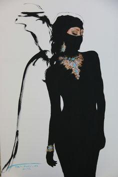 """National treasure"" 2015 acrylic on canvas - Art People Gallery Misty Copeland, National Treasure, Wild Nature, Simply Beautiful, Monochrome, Goth, Poses, Superhero, Black And White"